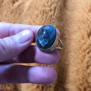 Handmade Faceted Labradorite Ring